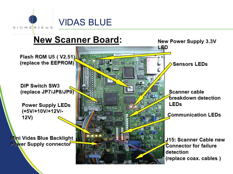 VIDAS BLUE New Scanner Board: New Power Supply 3.3V LED