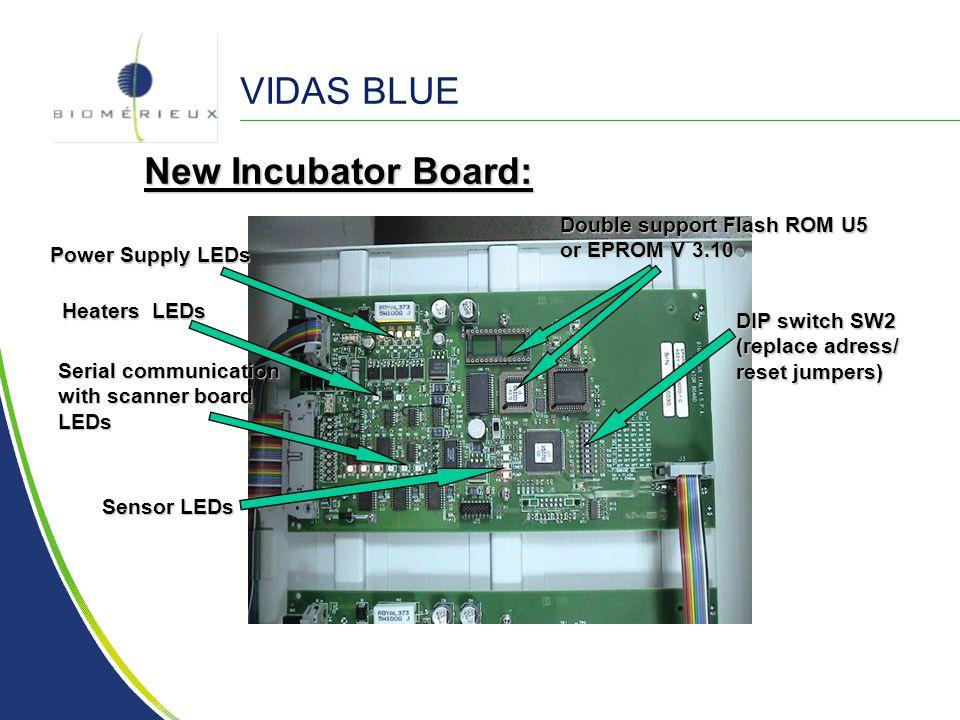 VIDAS BLUE New Incubator Board: Double support Flash ROM U5
