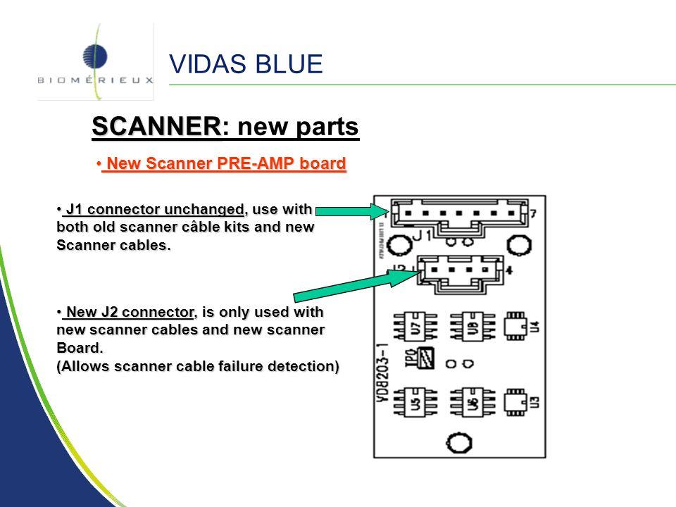 VIDAS BLUE SCANNER: new parts New Scanner PRE-AMP board