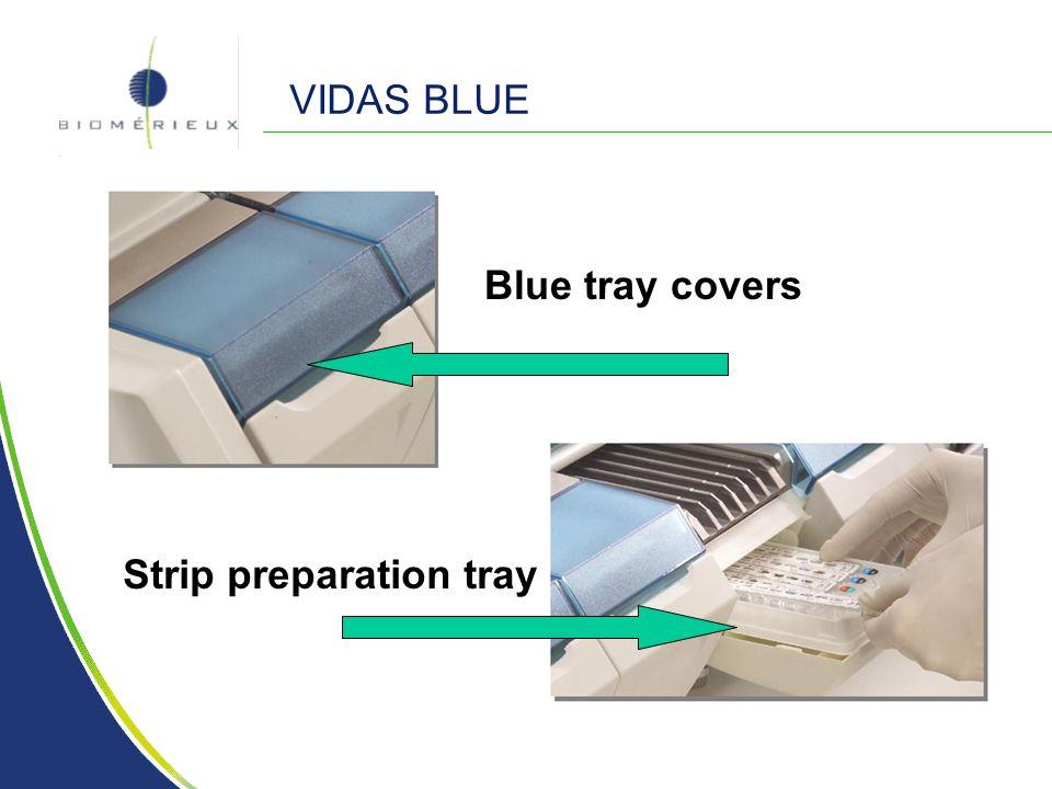 VIDAS BLUE Blue tray covers Strip preparation tray