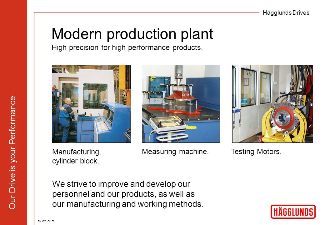 Modern production plant High precision for high performance products.