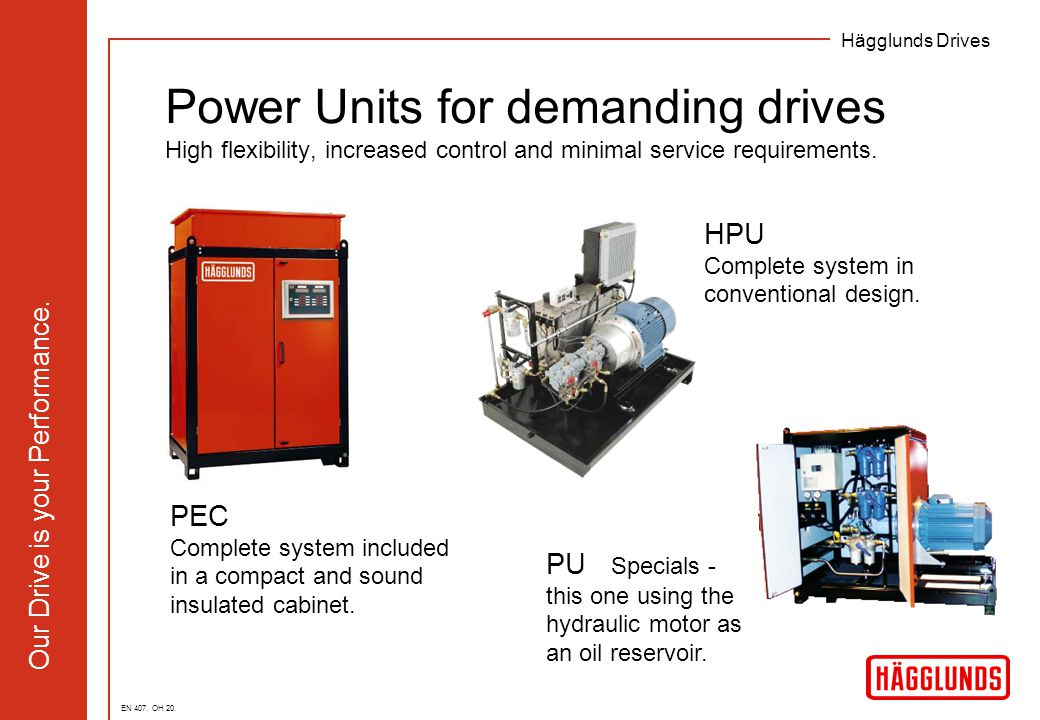 Power Units for demanding drives High flexibility, increased control and minimal service requirements.