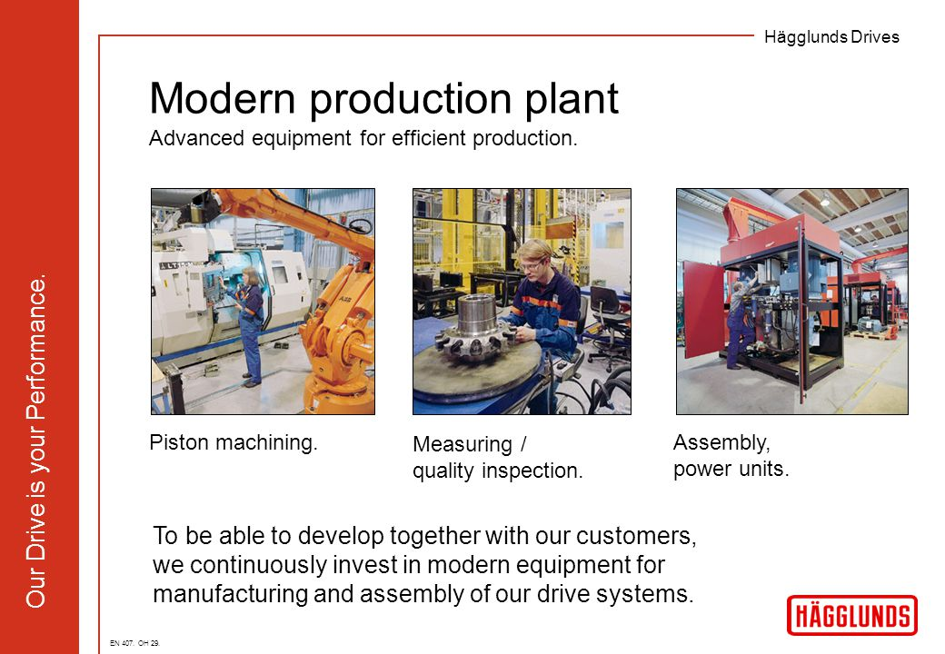Modern production plant Advanced equipment for efficient production.