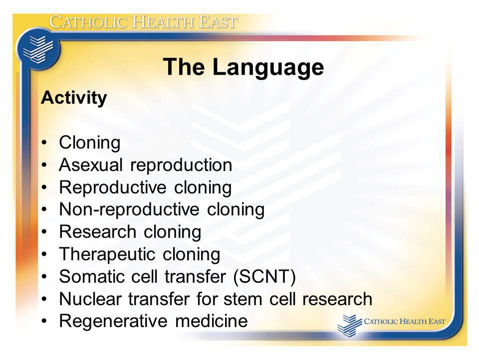 The Language Activity Cloning Asexual reproduction