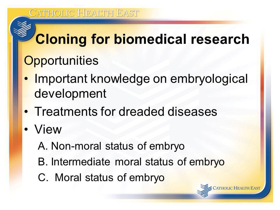 Cloning for biomedical research