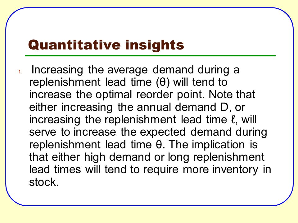 Quantitative insights
