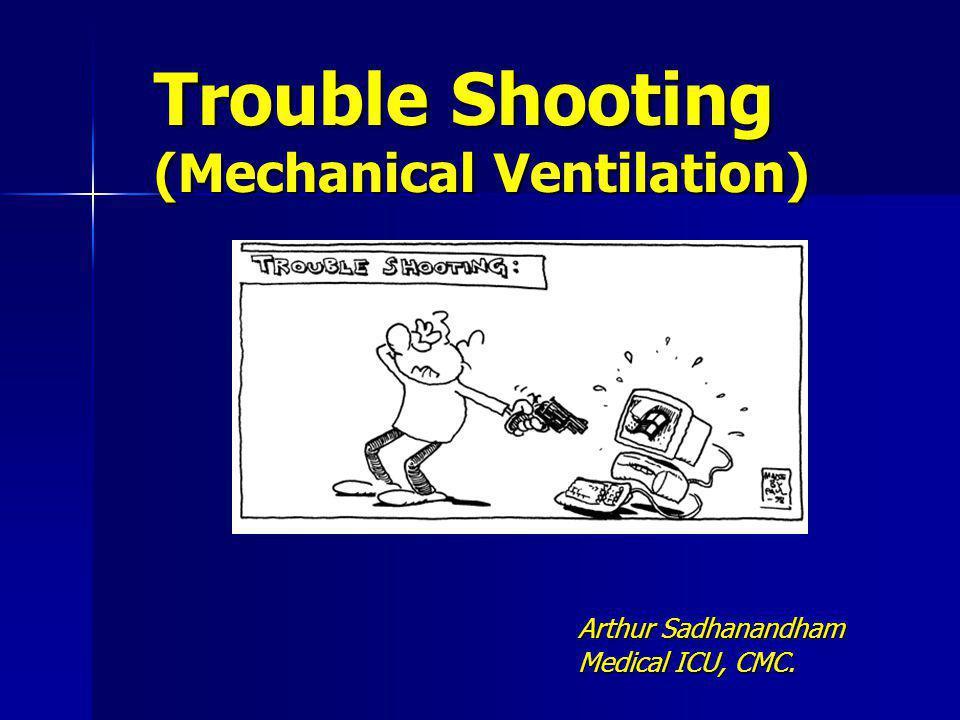 Trouble Shooting (Mechanical Ventilation)