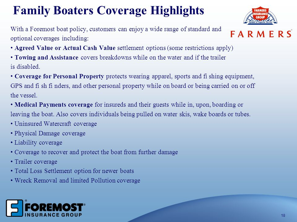 Family Boaters Coverage Highlights