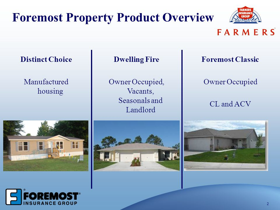 Foremost Property Product Overview