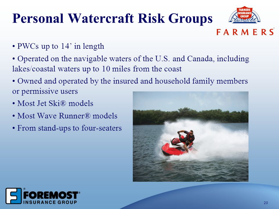 Personal Watercraft Risk Groups