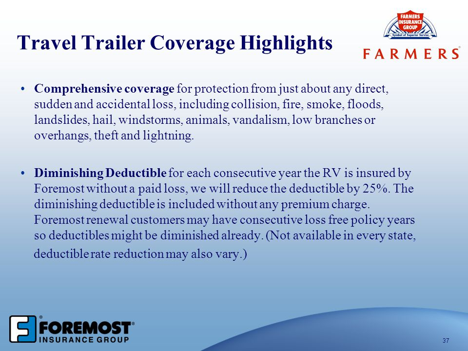 Travel Trailer Coverage Highlights