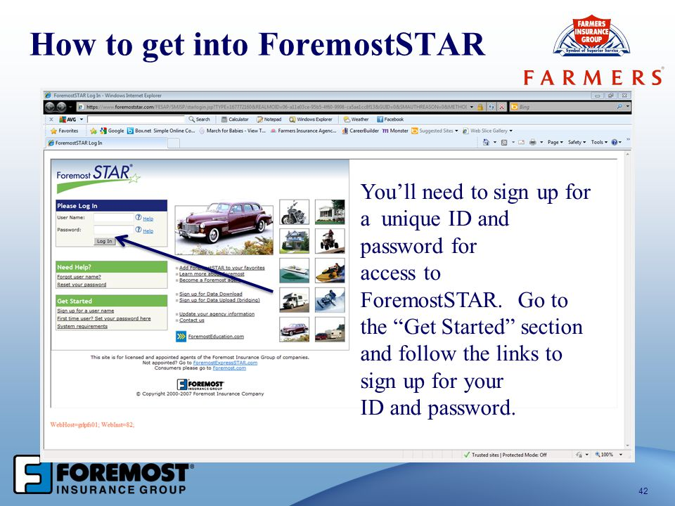 How to get into ForemostSTAR