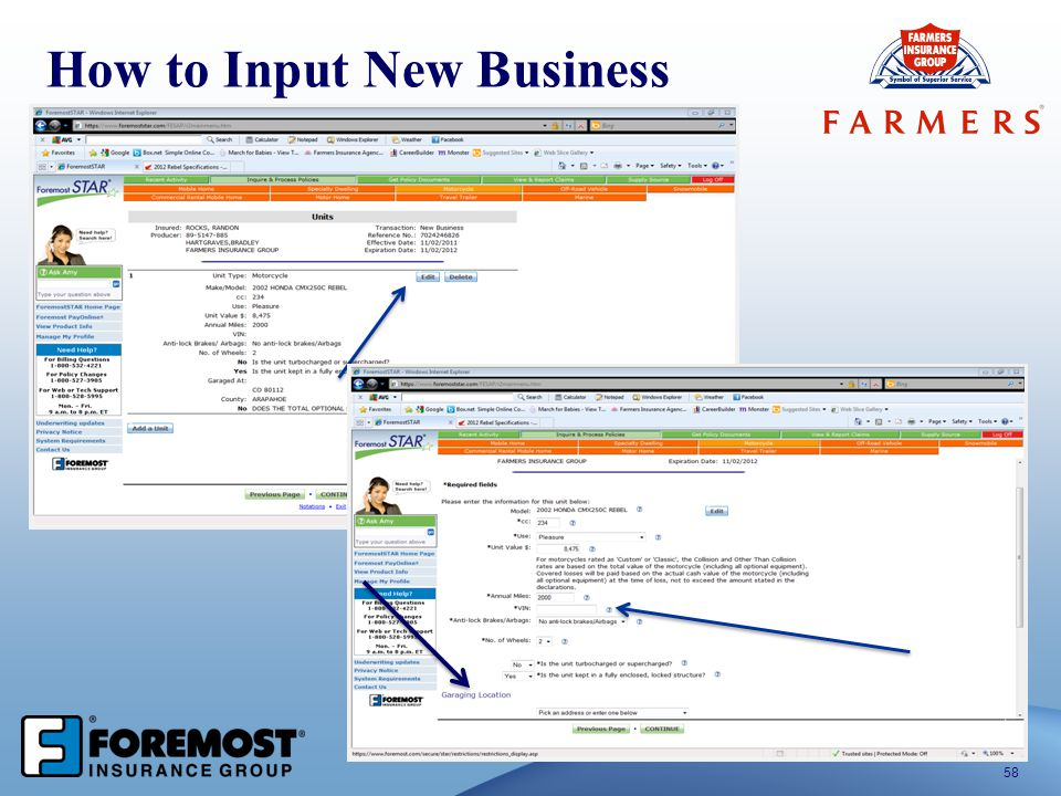 How to Input New Business