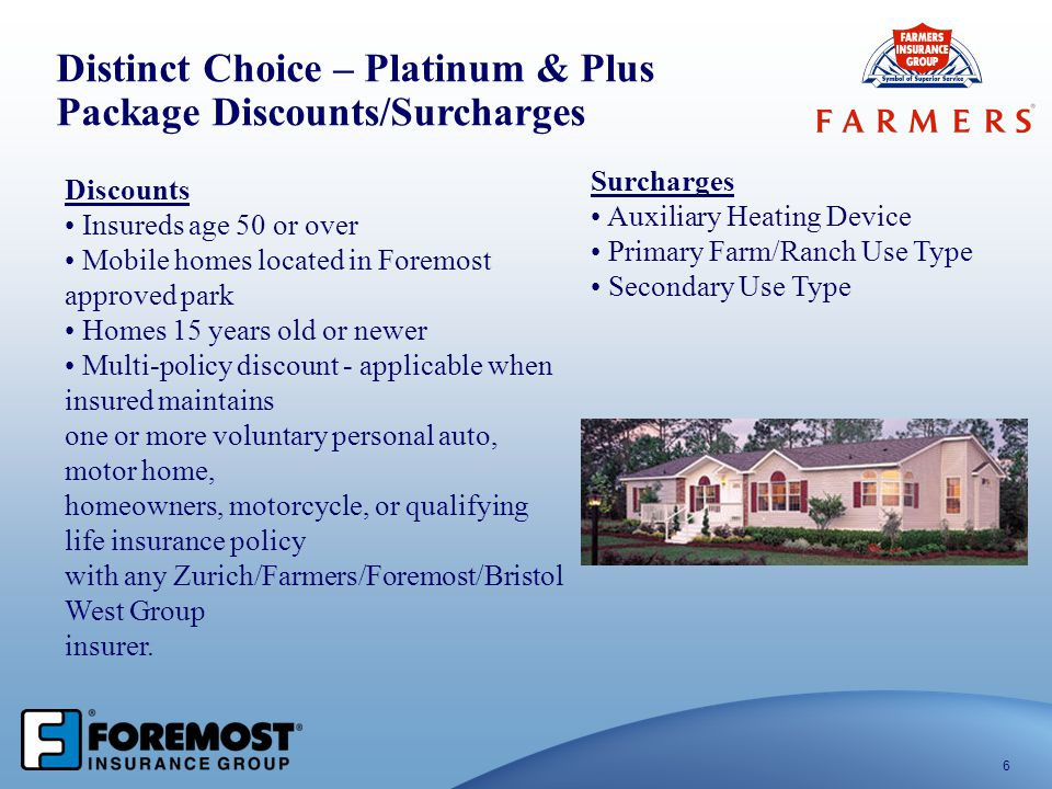Distinct Choice – Platinum & Plus Package Discounts/Surcharges