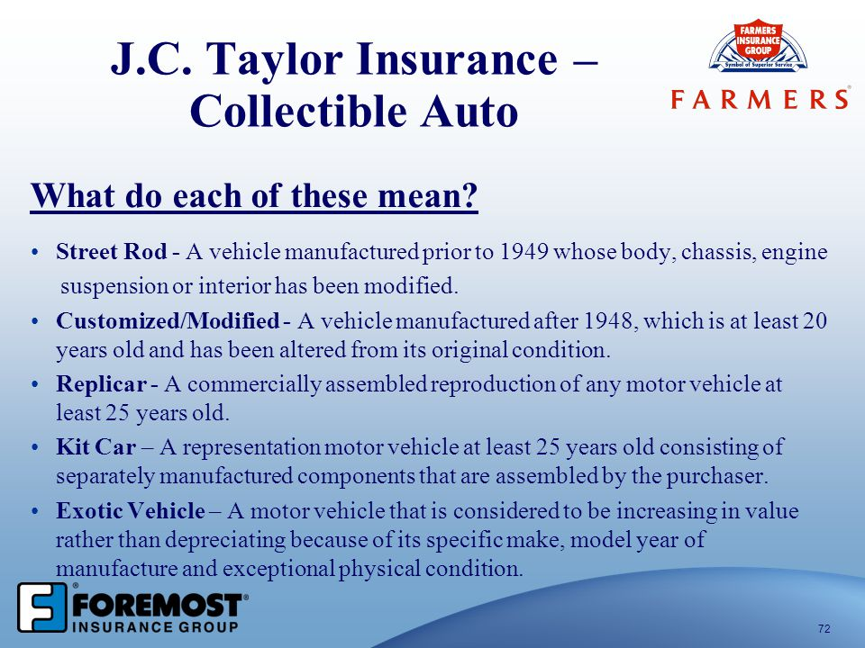 J.C. Taylor Insurance – Collectible Auto