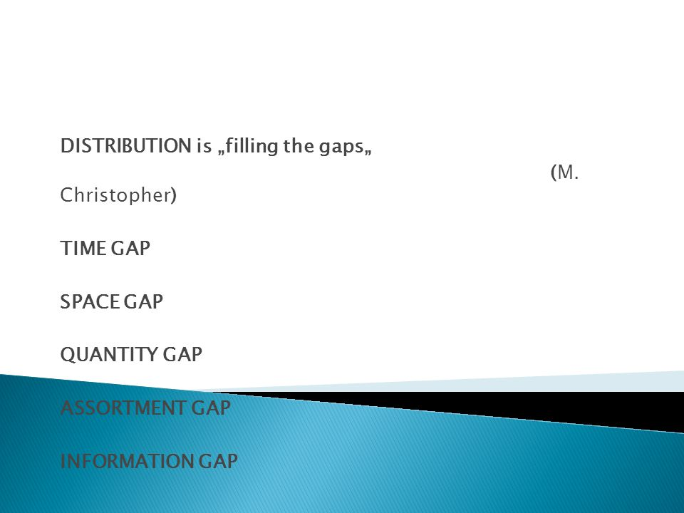 "DISTRIBUTION is ""filling the gaps"""