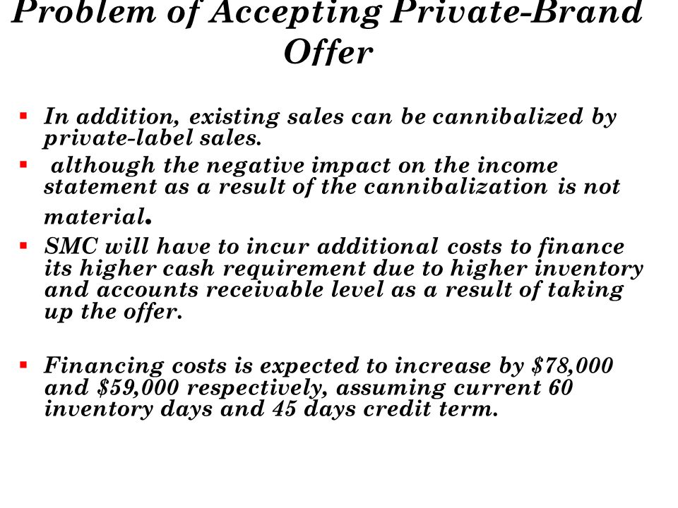 Problem of Accepting Private-Brand Offer