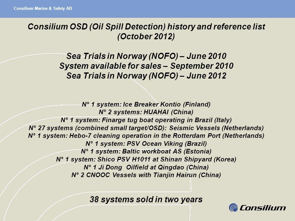 Sea Trials in Norway (NOFO) – June 2010
