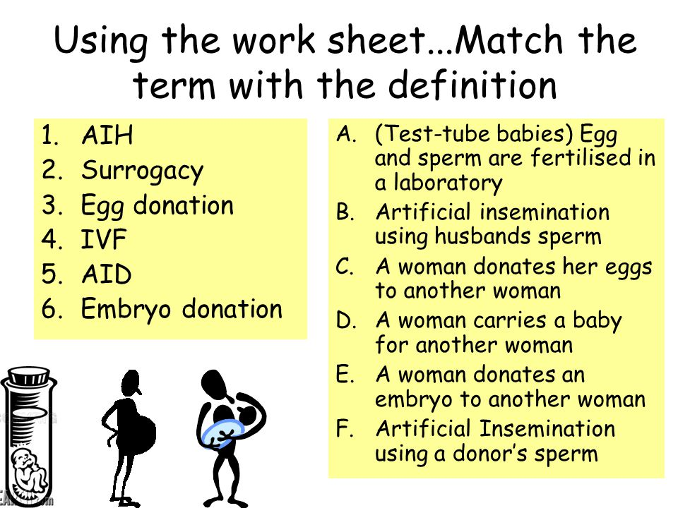 Using the work sheet...Match the term with the definition