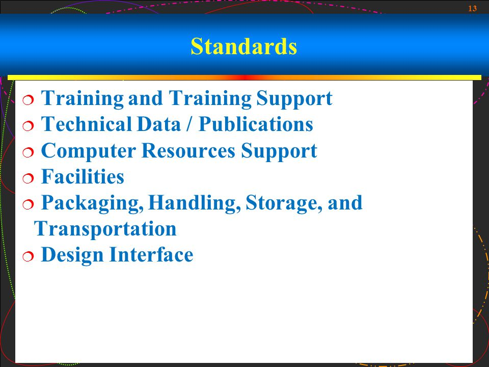 Standards Training and Training Support Technical Data / Publications