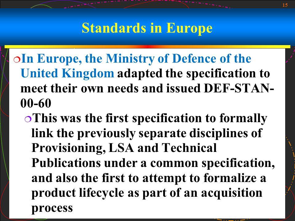 Standards in Europe