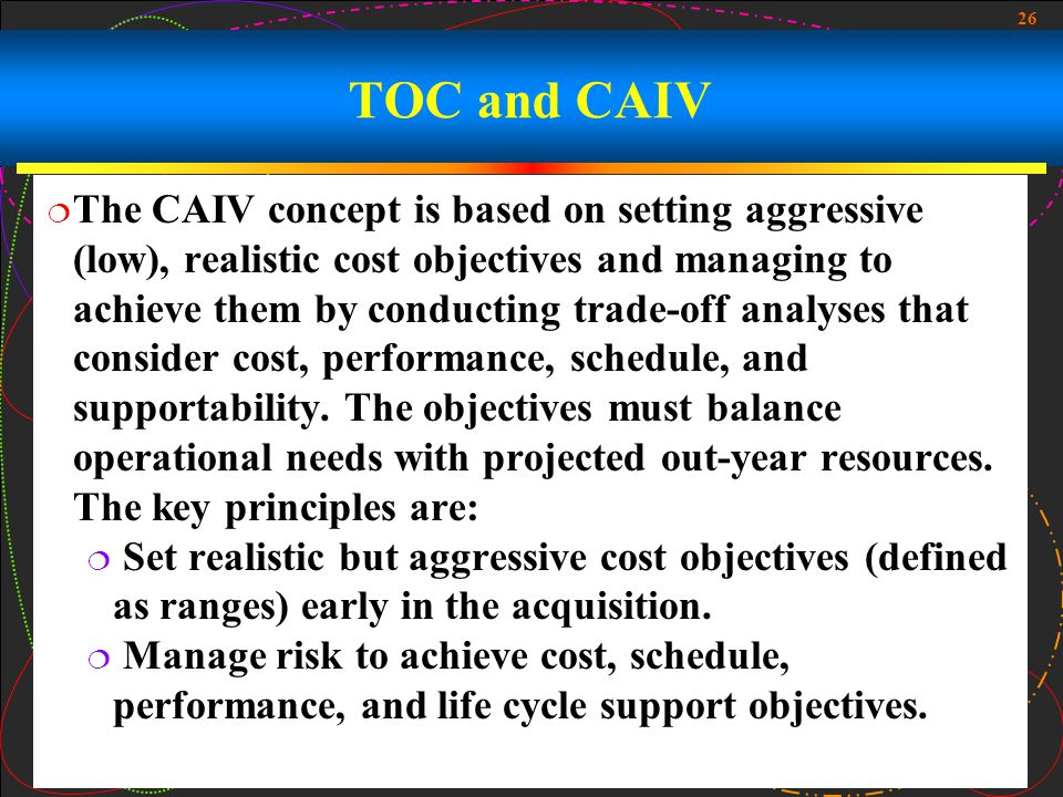 TOC and CAIV