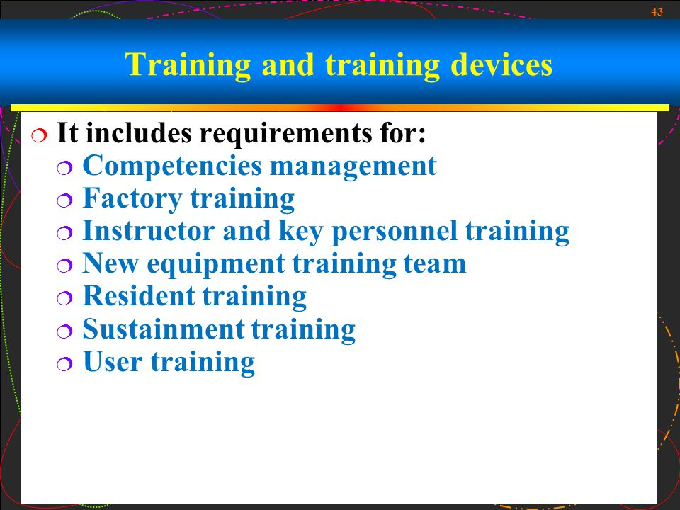 Training and training devices