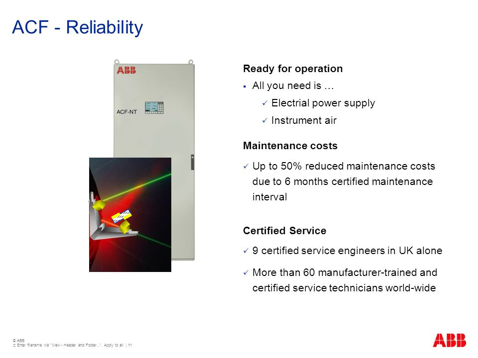ACF - Reliability Ready for operation All you need is …