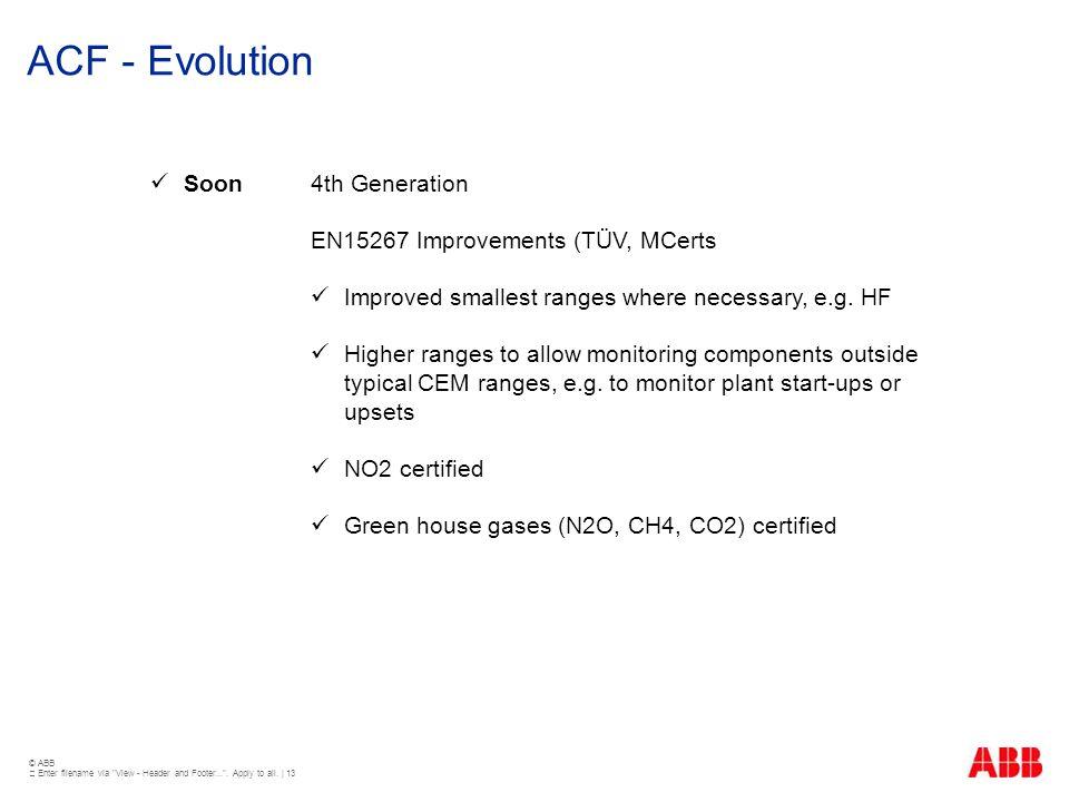 ACF - Evolution Soon 4th Generation EN15267 Improvements (TÜV, MCerts