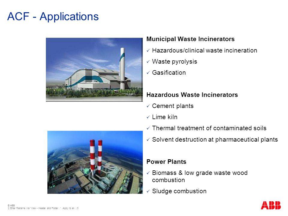 ACF - Applications Municipal Waste Incinerators