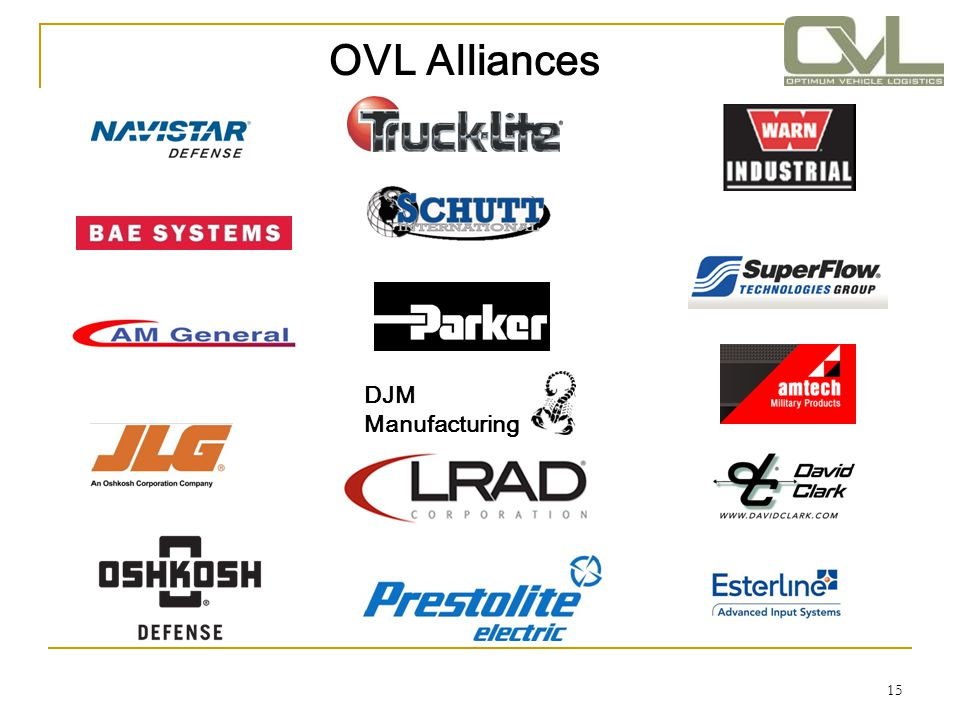 OVL Alliances DJM Manufacturing