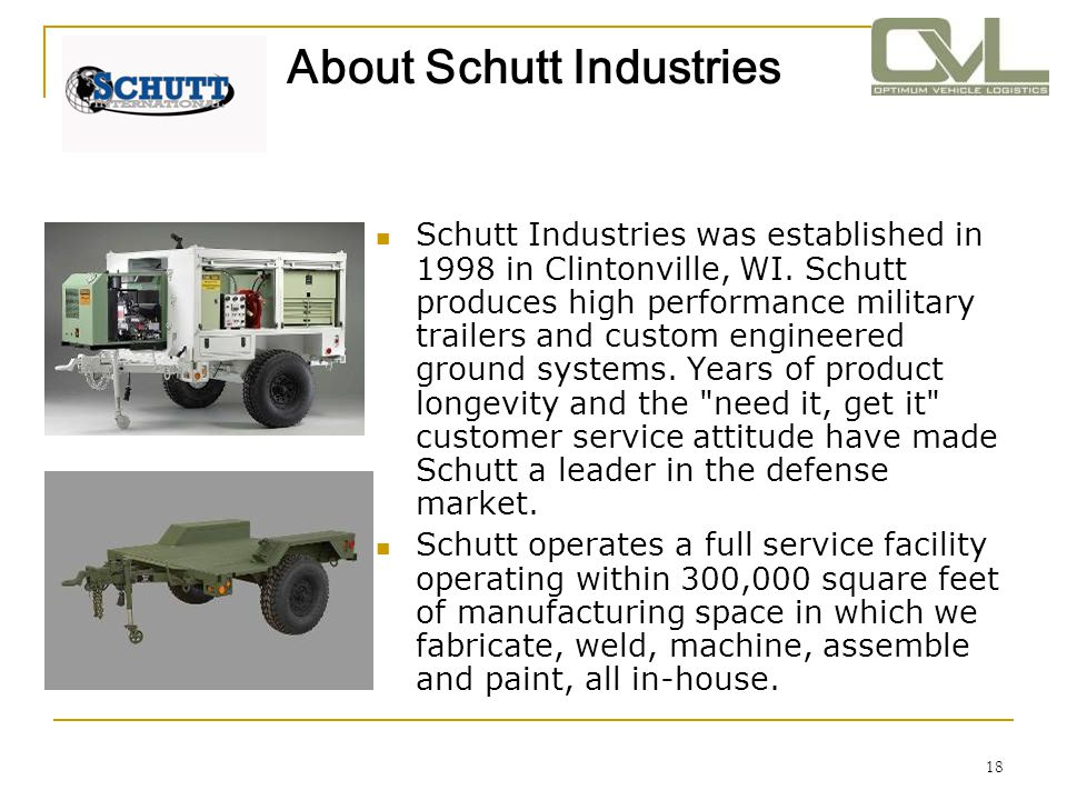 About Schutt Industries