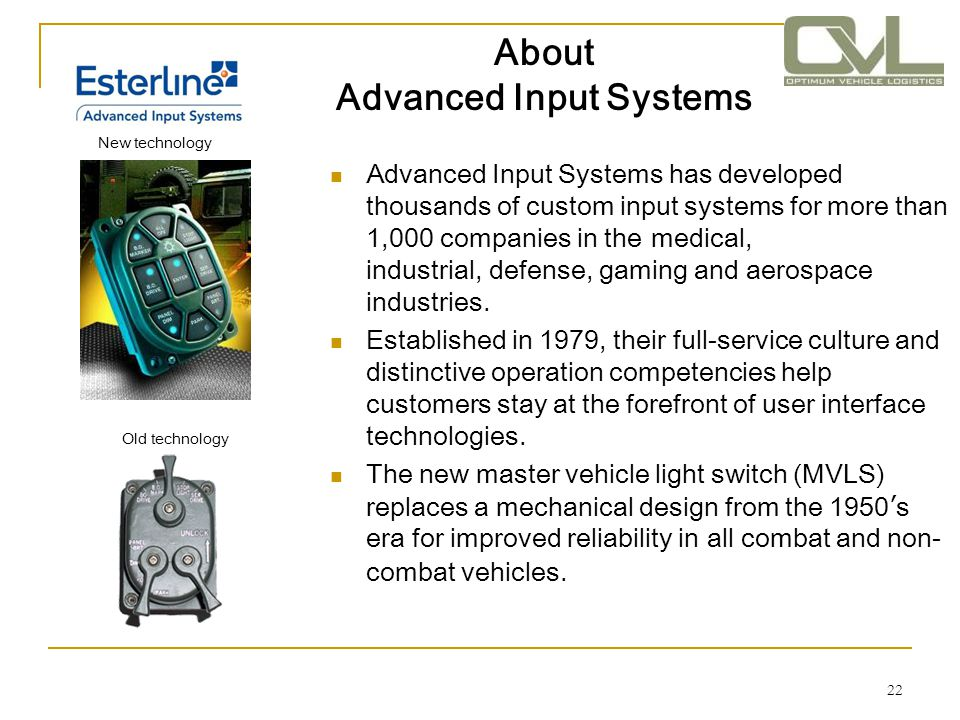 About Advanced Input Systems
