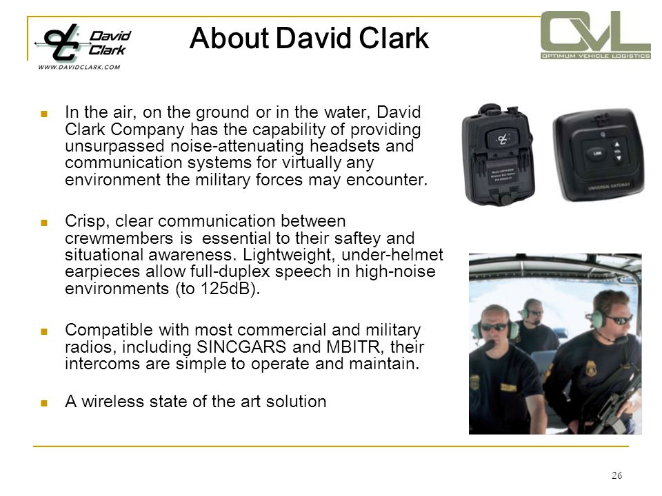 About David Clark
