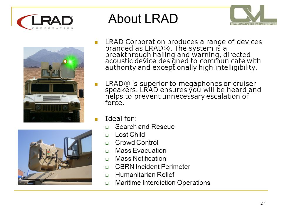 About LRAD
