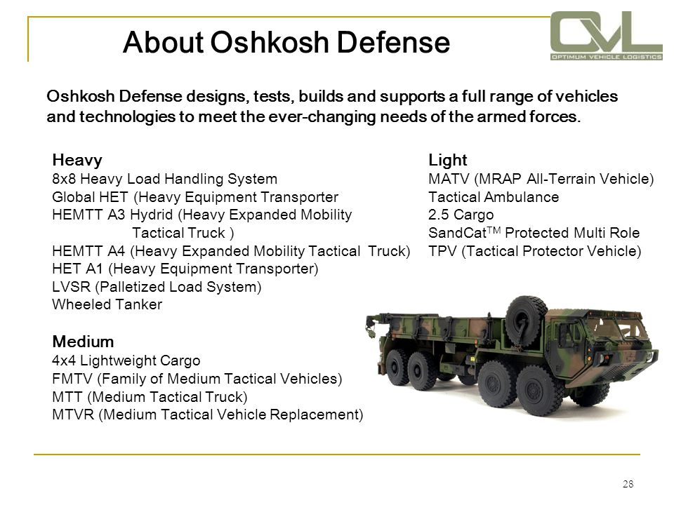 About Oshkosh Defense