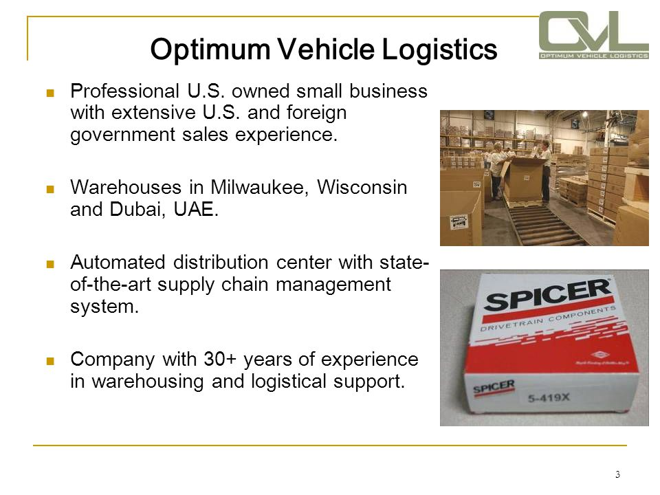 Optimum Vehicle Logistics