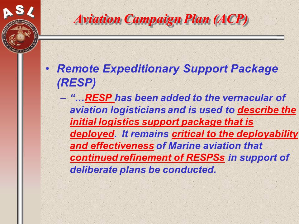 Aviation Campaign Plan (ACP)
