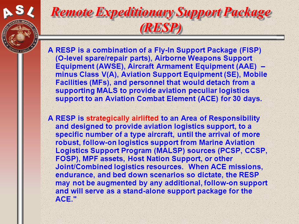 Remote Expeditionary Support Package (RESP)