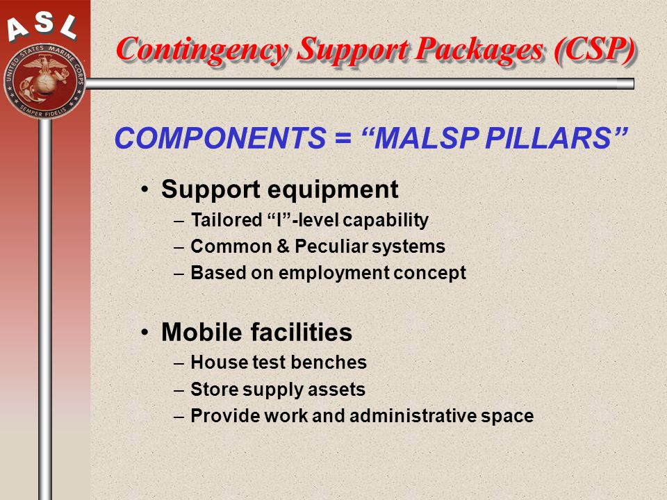 Contingency Support Packages (CSP)