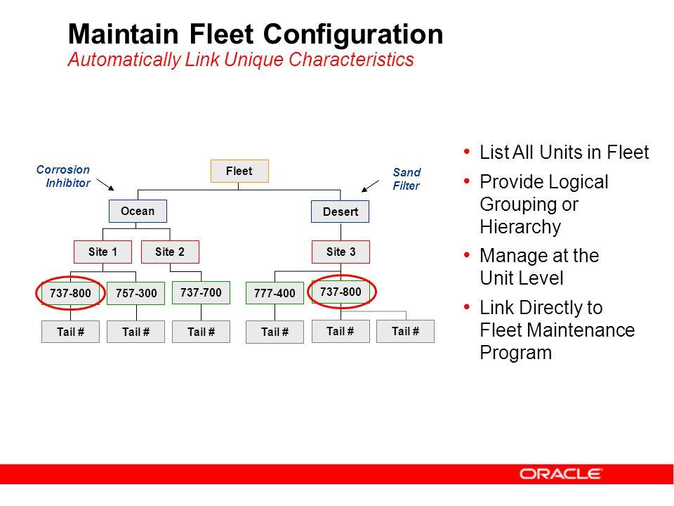 Maintain Fleet Configuration Automatically Link Unique Characteristics