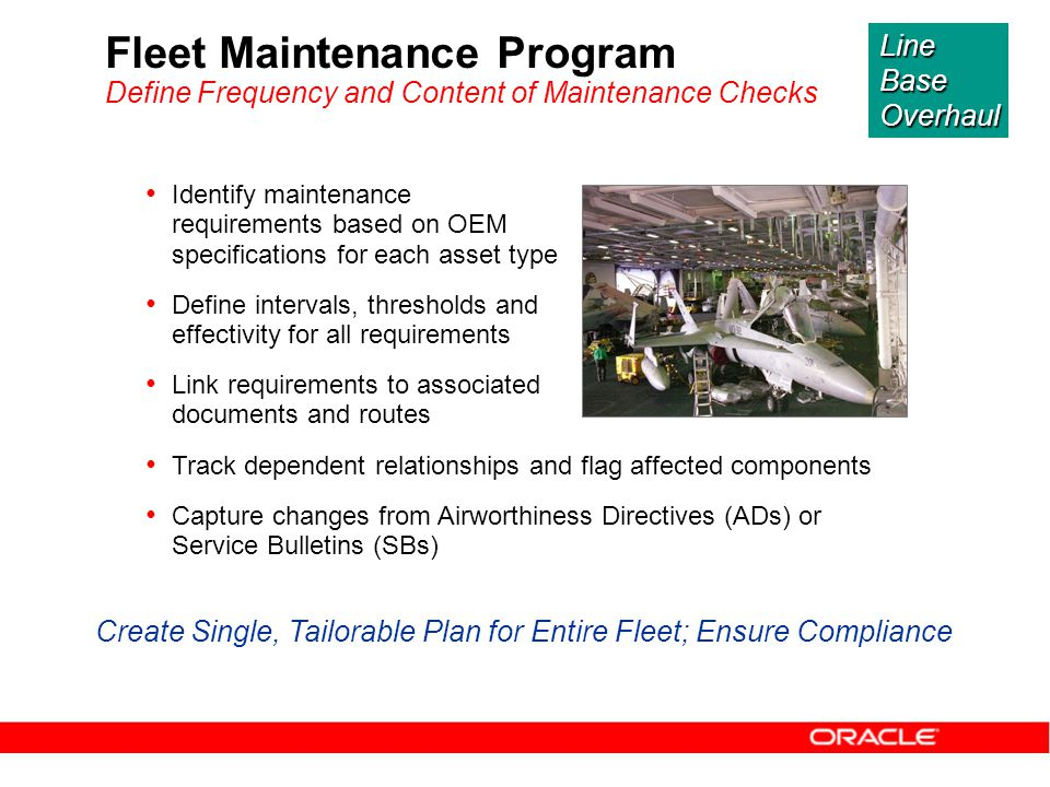 Create Single, Tailorable Plan for Entire Fleet; Ensure Compliance