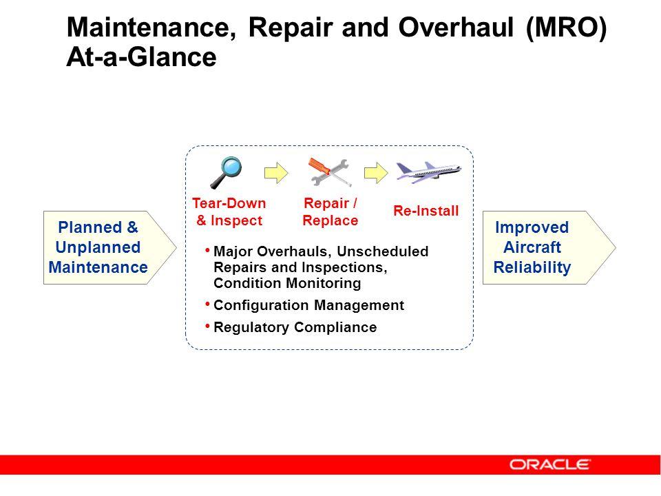 Maintenance, Repair and Overhaul (MRO) At-a-Glance
