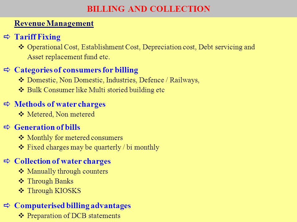 BILLING AND COLLECTION