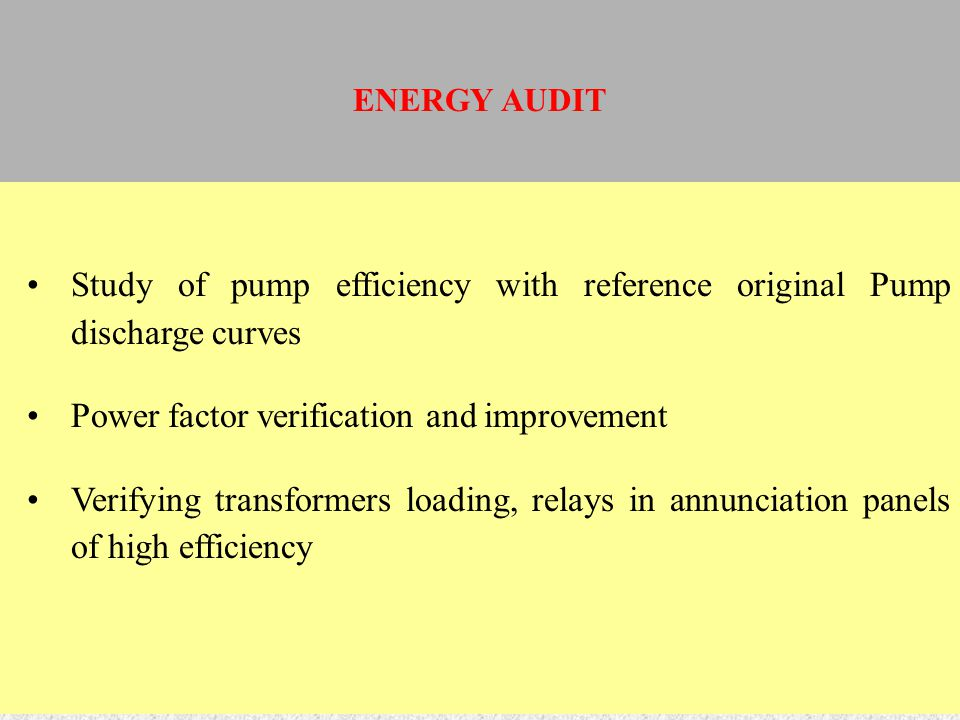 Study of pump efficiency with reference original Pump discharge curves