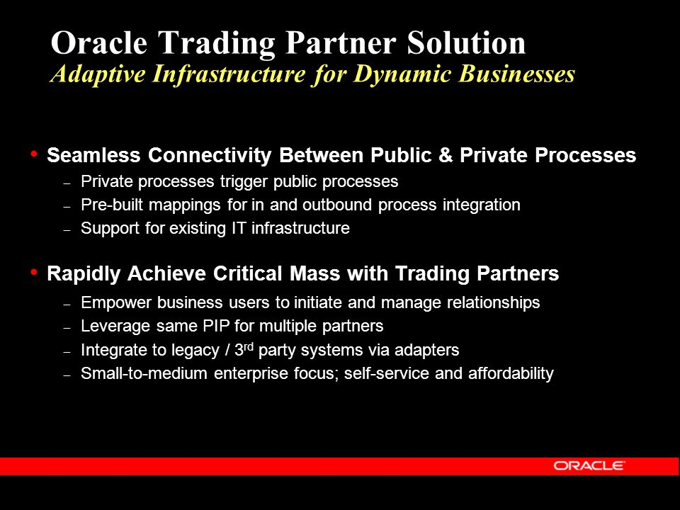 Oracle trading systems