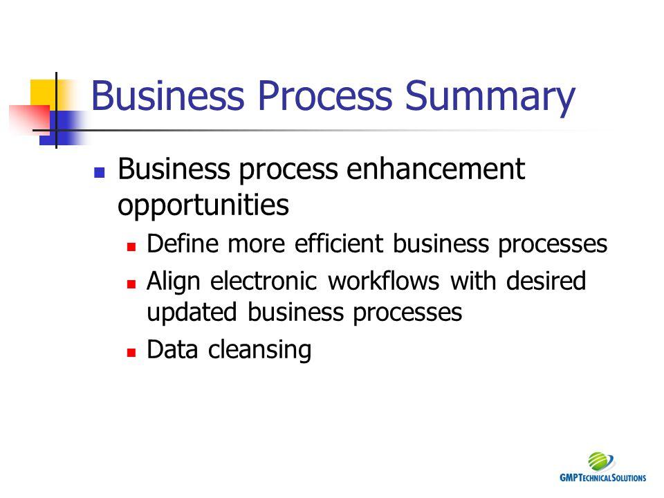 Business Process Summary
