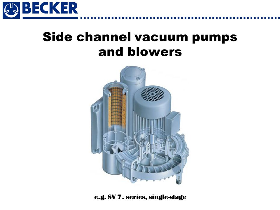 Side channel vacuum pumps and blowers