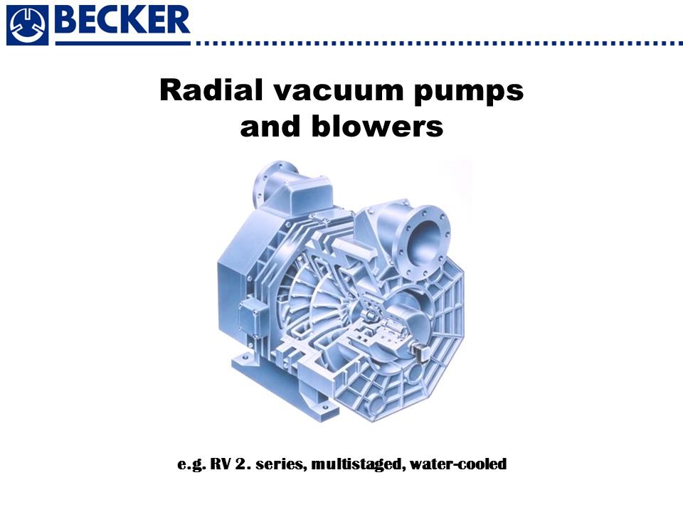 Radial vacuum pumps and blowers