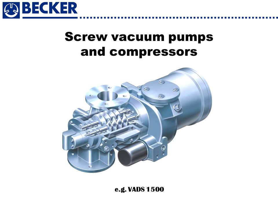 Screw vacuum pumps and compressors